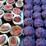 fig goat cheese and blueberry lemon coconut